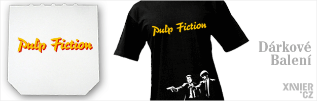 Origin�ln� D�rkov� Balen� tri�ka, tri�ko Pulp Fiction, Xavier.cz eshop Pulp Fiction, origin�ln� tri�ka s potiskem Pulp Fiction, origin�ln� d�rky pro mu�e, �eny, k narozenin�m a v�noc�m v origin�ln�m d�rkov�m balen� Pulp Fiction, filmy, seri�ly online